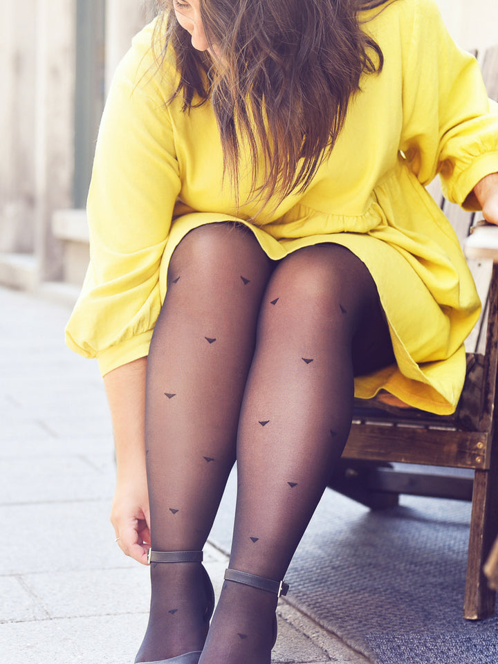 Triangle Print Tights