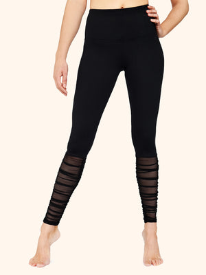 Mesh Ruching Legging