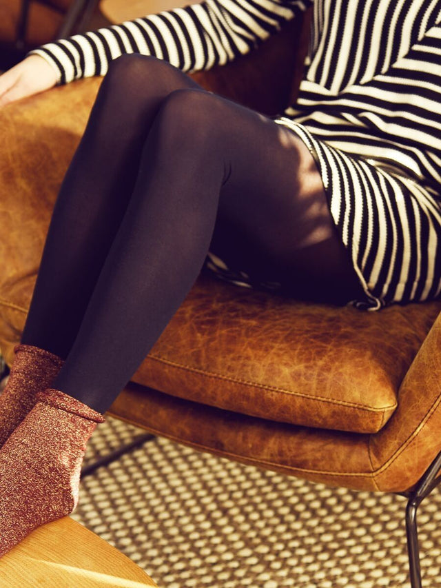 Black Opaque Tights 50D (3 Pack)