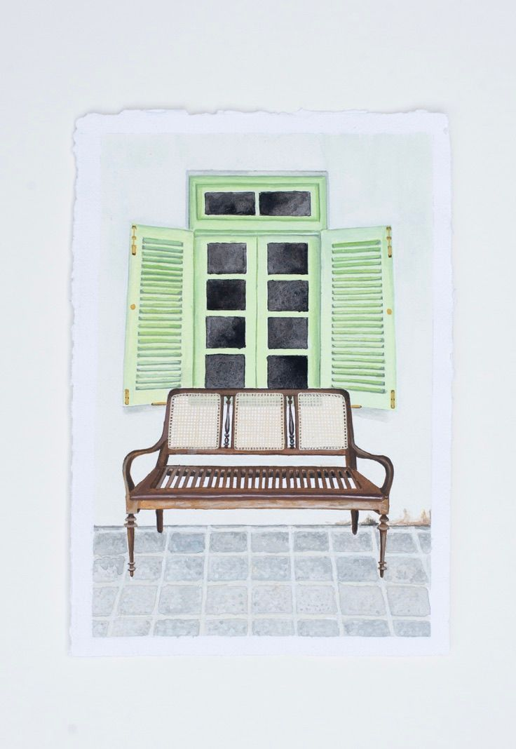 Sri Lankan Artisan Reading Chair and Wonky Green Shutters