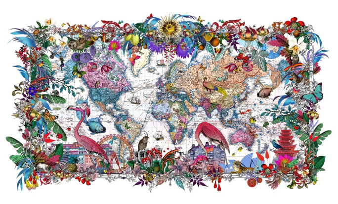 Gull Fiskar - World map 2017
