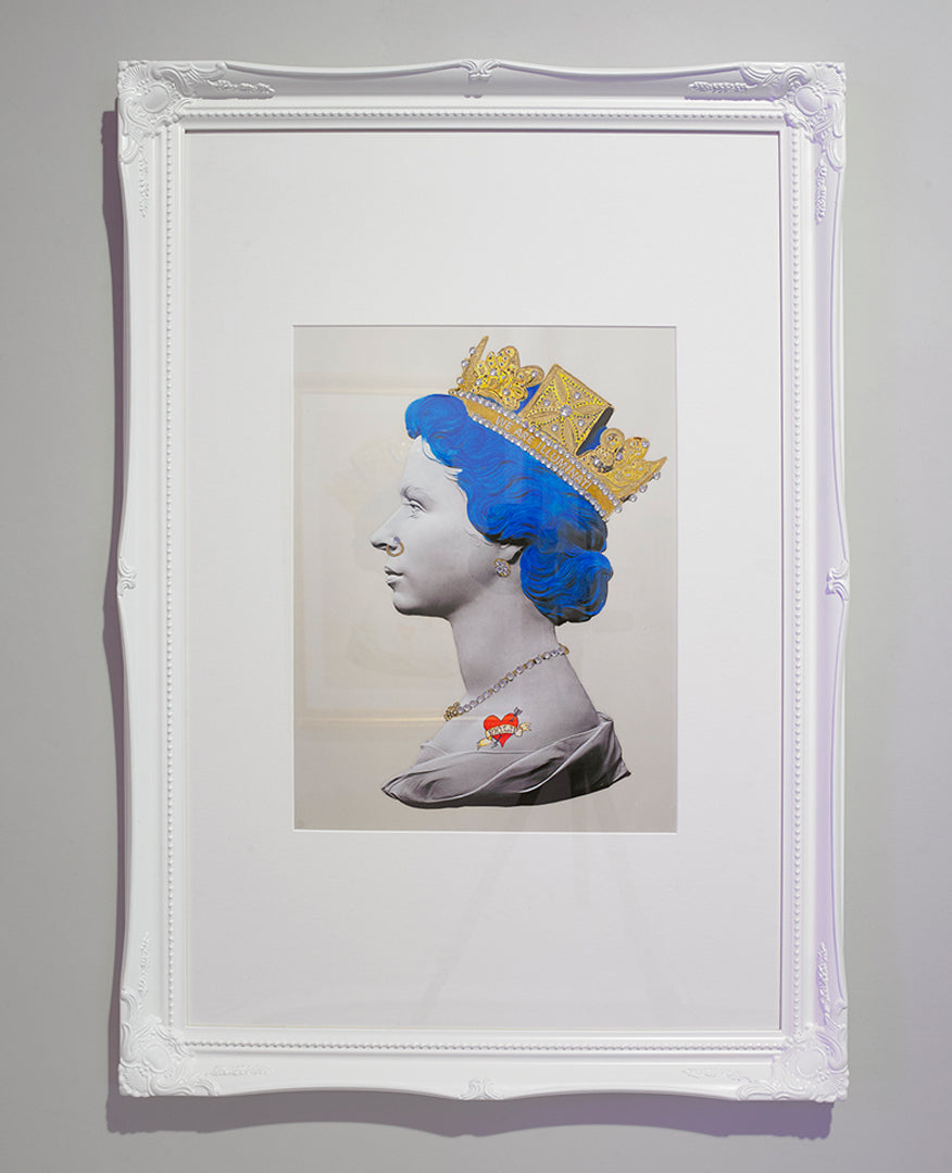 God Save The Queen, Baby Punk Print (Blue)