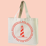 AWA XL Canvas Tote Bag (back) Thank You For Exploring Accidentally Wes Anderson