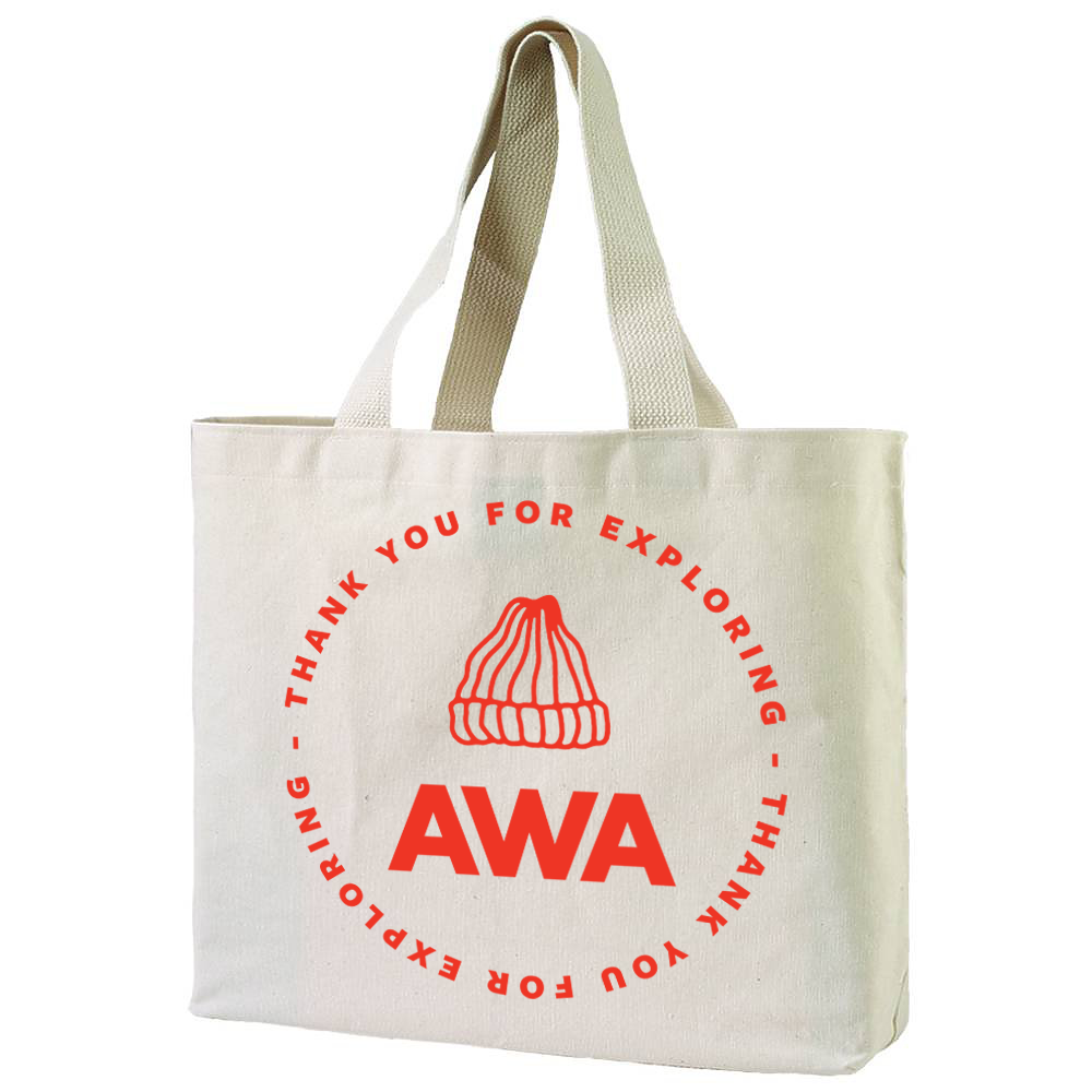 AWA XL Canvas Tote Bag (front) Thank You For Exploring Accidentally Wes Anderson