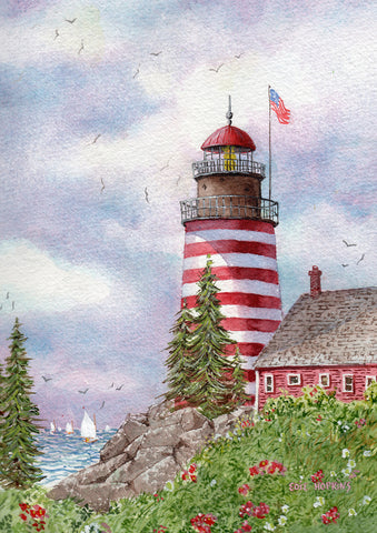 Quoddy on the Narrows Garden Flag Image