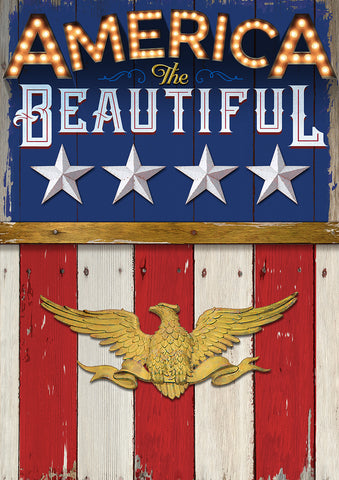 America the Beautiful Garden Flag Image