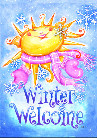 Winter Welcome Flag Image