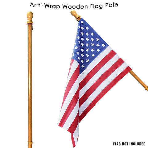 Wooden Flag Pole Image