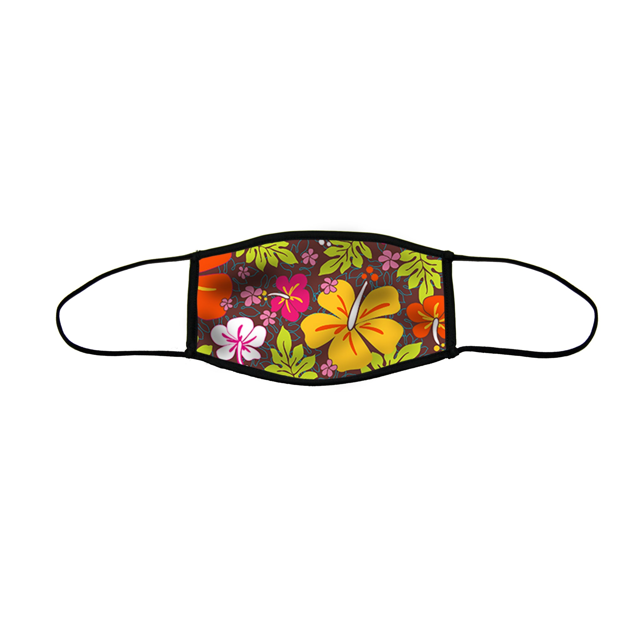 Aloha Flowers Large Double Layer cloth Face Mask