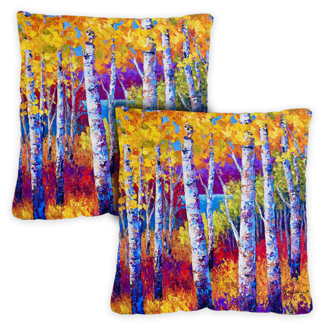 Blissful Birches Pillow Case Image