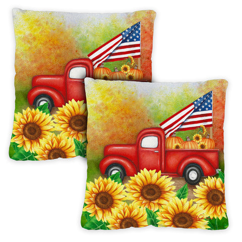 Welcome Harvest Truck Pillow Case Image