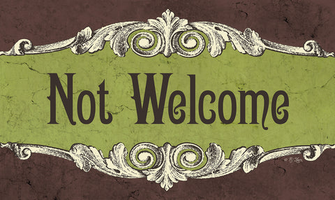 Not Welcome Door Mat Image
