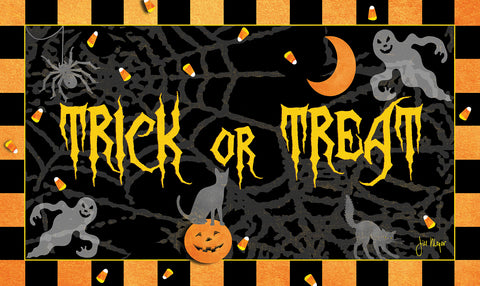 Trick or Treat Door Mat Image