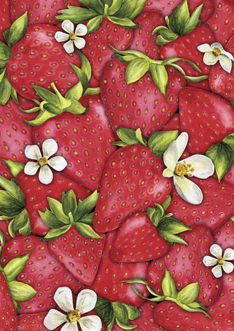 Strawberry Collage Flag Image