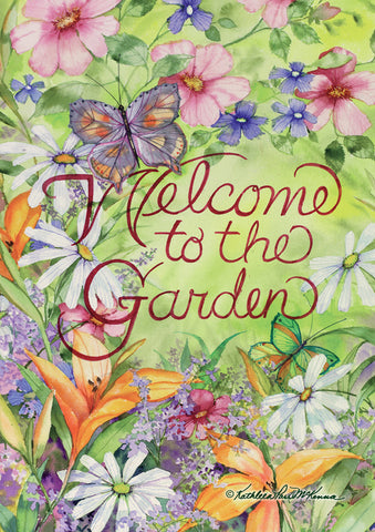 Welcome to the Garden Flag Image