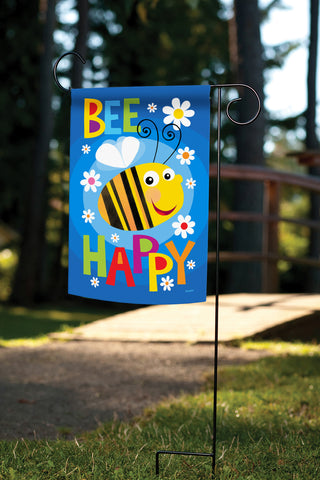 Bee Happy Double Sided Garden Flag Feature Image