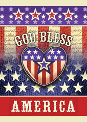 God Bless America Heart Garden Flag (12.5 x 18