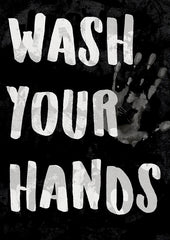 Wash Your Hands Garden Flag (12.5 x 18