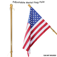 Metal Flag Pole with Anti-Wrap Sleeve (Case of 6)