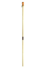 Two Piece Wooden Flagpole Natural (Case of 6)
