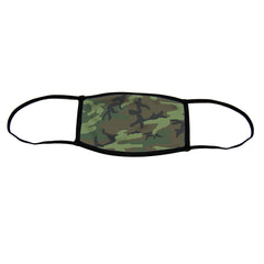 Camo Premium Triple Layer Cloth Face Mask - Small (Case of 6)