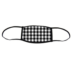 Gingham Small Double Layer Cloth Face Mask (Case of 6)