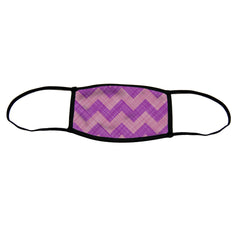 Chevron Premium Triple Layer Cloth Face Mask - Small (Case of 6)