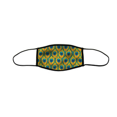 Pretty Peacock Premium Triple Layer Cloth Face Mask - Medium (Case of 6)