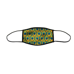 Pretty Peacock Premium Triple Layer Cloth Face Mask - Large (Case of 6)
