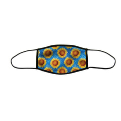 Sweet Sunflowers Premium Triple Layer Cloth Face Mask - Large (Case of 6)