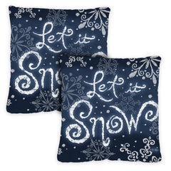Let It Snow 18 x 18 Inch Pillow Case (2-Pack)