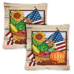 American Harvest 18 x 18 Inch Pillow Case (2-Pack)