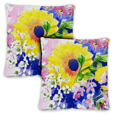 Mixed Bouquet 18 x 18 Inch Indoor Pillow Case (2-Pack)