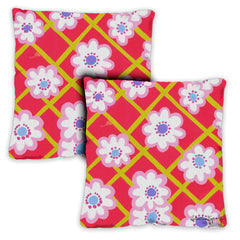 Retro Daisies 18 x 18 Inch Indoor Pillow Case (2-Pack)