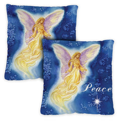 Angel Wings 18 x 18 Inch Indoor Pillow Case (2-Pack)