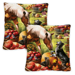 Autumn Farm 18 x 18 Inch Indoor Pillow Case (2-Pack)