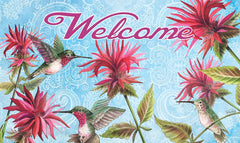 Hummingbirds in Garden Door Mat (18 x 30
