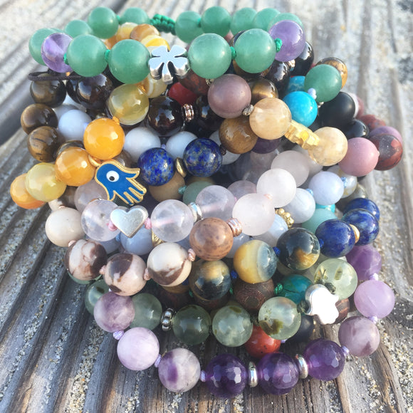 Hand-Knotted Beaded Bracelets