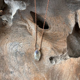 Silver- Labradorite Dainty Sterling Silver Necklace