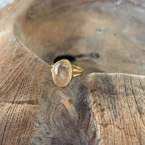 Yellow Topaz Ring in Gold