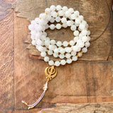Moonstone Mala with Adi Shakti Guru Bead