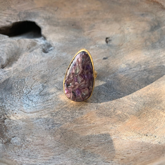 Cheroite Ring in Gold