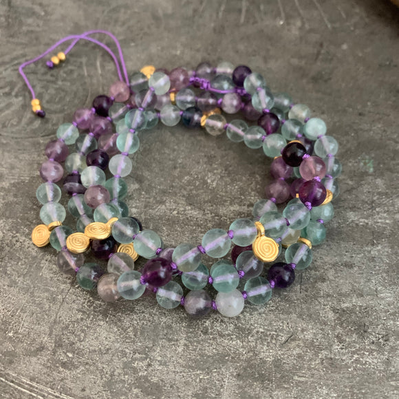 Fluorite Adjustable Mala with 6mm Beads