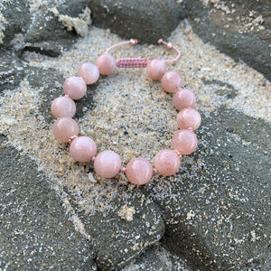 Sunstone Adjustable Beaded Bracelet 10mm