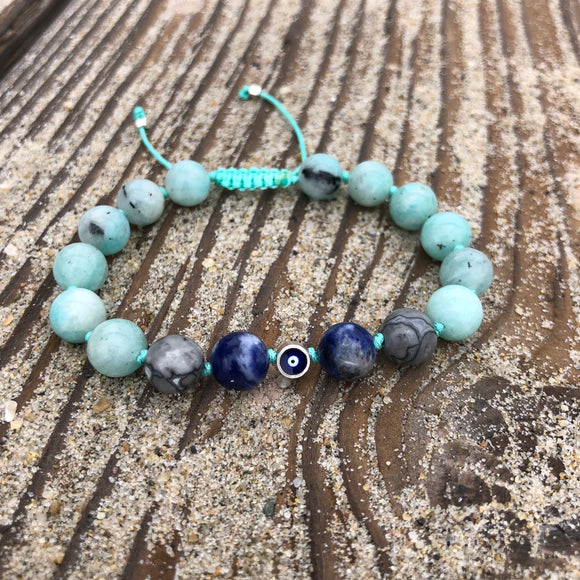 Bracelet - Amazonite, Picasso Jasper, Sodalite The Eye of Protection