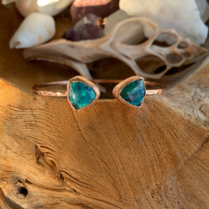 Chrysocolla Bangle Bracelet