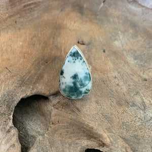 Moss Agate Ring in Silver