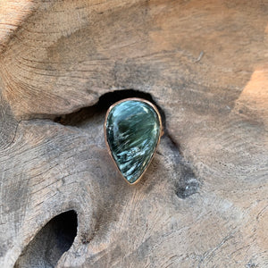 Seraphinite Ring in Rose Gold