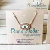 Silver - Eye of Protection Adjustable Necklace