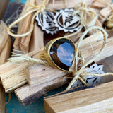 Smokey Quartz Ring in Gold